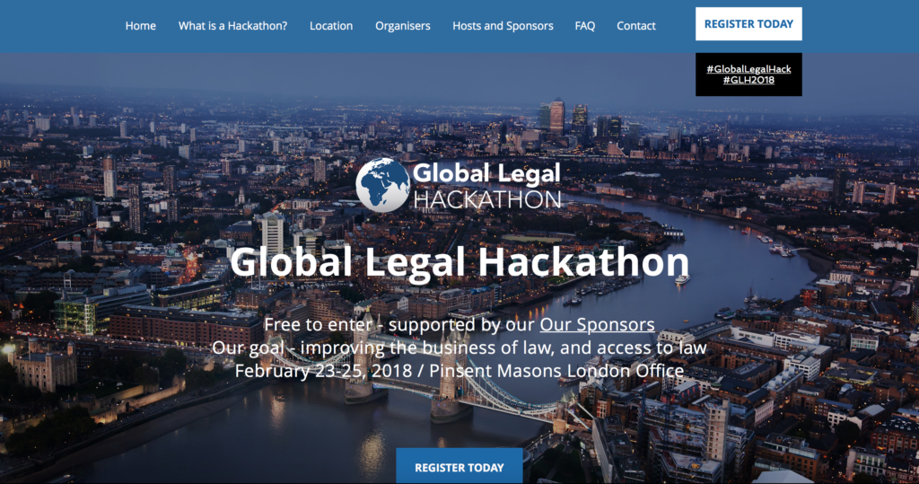 Get involved in the Global Legal Hackathon in London
